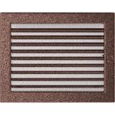 Вентиляционная решетка Kratki каминная Латунь с жалюзи (22*30) 22-30MX