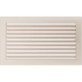 Вентиляционная решетка Kratki каминная Кремовая с жалюзи (22*37) 22-37KX