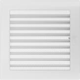 Вентиляционная решетка Kratki каминная Белая с жалюзи (22*22) 22BX