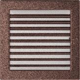 Вентиляционная решетка Kratki каминная Латунь с жалюзи (22*22) 22MX