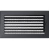 Вентиляционная решетка Kratki каминная Графит с жалюзи (17*30) 30GX