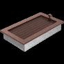 Вентиляционная решетка Kratki каминная Латунь с жалюзи (17*30) 30MX