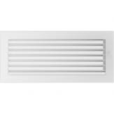 Вентиляционная решетка Kratki каминная Белая с жалюзи (17*37) 37BX