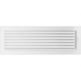 Вентиляционная решетка Kratki каминная Белая с жалюзи (17*49) 49BX
