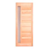 Дверь для бани деревянная из ольхи со стеклом бронза матовая 1900*700 арт. ДСО
