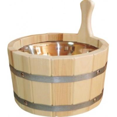 Шайка для бани 4,5 л с нержавеющей вставкой (ШН-4,5)