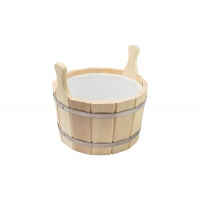 Шайка для бани 12 л с пластиковой вставкой (ПЛ-14)