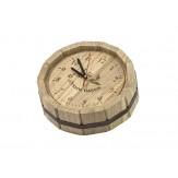 """Часы для бани """"Бочка"""" в корпусе из дуба D-300"""