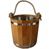 Запарник для бани и сауны из дуба в масле 20 л с нержавеющей вставкой