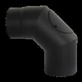 Дымоход Lava черный сталь 2 мм Отвод 90* с ревизией d=120 мм