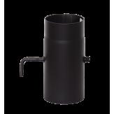 Дымоход Lava черный сталь 2мм Труба с поворотным шибером 250 мм d=150 мм