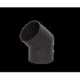 Дымоход Lava черный сталь 2 мм Отвод 45* d=150 мм