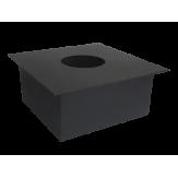 Дымоход Lava черный сталь 2 мм ППУ (потолочно-проходной узел) d=250 мм