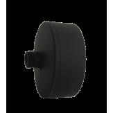 Дымоход Lava черный сталь 2 мм Заглушка с конденсатоотводом d=120 мм