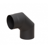 Дымоход Lava черный сталь 2 мм Отвод 90* d=150 мм