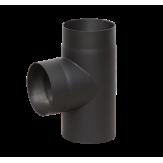 Дымоход Lava черный сталь 2 мм Тройник 90* d=120 мм