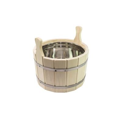 Шайка для бани 5 л с нержавеющей вставкой (ЛТ-12)