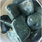 Нефрит галтованный (темно-зелёный) для бани и сауны в экологичной упаковке, 1 кг