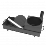 Мангал Просто Огонь М108К с печью под казан на 6-9 литров