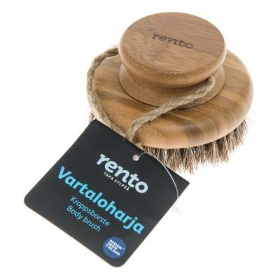 Tammer-Tukku Щетка натуральная для мытья Rento, круглая, бамбук, 9,5 см, артикул 230002
