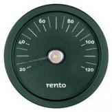 Tammer-Tukku Термометр алюминиевый круглый для сауны Rento, малахит, артикул 276433