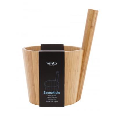 Запарник для бани Rento бамбук duo black