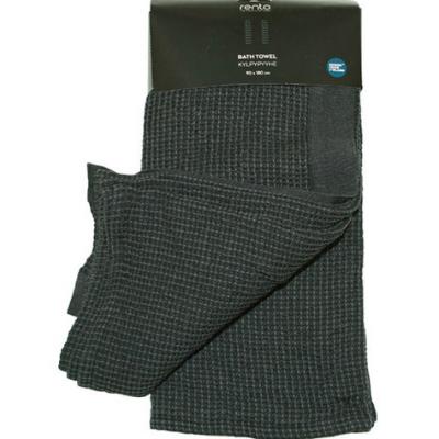 Полотенце Rento Kenno 90x180см для бани и сауны цвет черный и серый