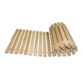 Коврик для бани деревянный гибкий, большой 50*100