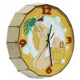 """Часы для бани """"С детства парюсь с мамкой""""  кварцевые"""
