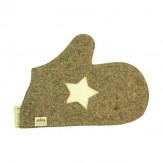 Рукавица для бани Звезда цвет серый