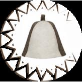 Шапка Банные Традиции из натурального войлока комбинированная