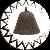 Шапка Банные Традиции из натурального войлока серая