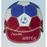 """Шапка для бани и сауны кепка-мяч """"Россия вперед!"""""""