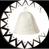 Шапка Банные Традиции из натурального войлока белая