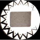 Коврик для бани Банные традиции войлок серый