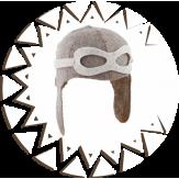 Шапка Банные Традиции из натурального войлока Шлем пилота