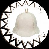 Шляпка Банные Традиции из натурального войлока Кокетка