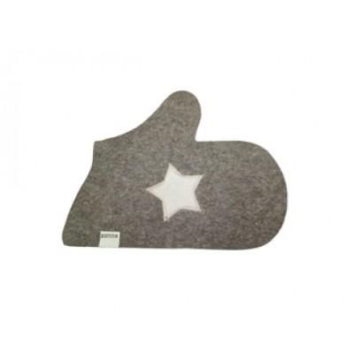 Рукавица для бани и сауны Звезда цвет серый