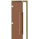 Дверь для бани и сауны Sawo 741-3SGD-L-2 стекло бронза, коробка кедр, без порога, левая, ручка прямая