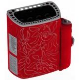 Sawo Электрическая печь MINI MN-36NS-DRF-P, красная, с выносным пультом
