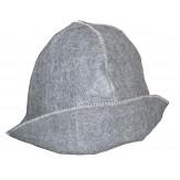 Шляпа (шапка) для бани и сауны Банщик, серый войлок