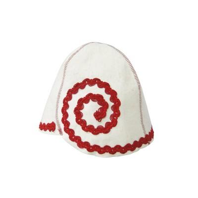 """Шляпка (шапка) для бани и сауны """"Флирт"""" красный"""