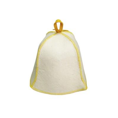 Шапка для бани и сауны Холи цвет белый