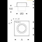 Переходник Schidel Permeter 25 Кирпичная труба-РМ25 d=200 мм