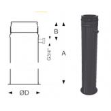Напольный элемент с отводом конденсата Schidel Permeter 25 (1000 мм) черный d=130 мм