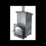 Печь ИнжКомЦентр ВВД Сударушка Прима в талькохлорите с фасками дверца стальная окрашеная