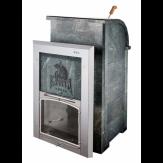 Чугунная печь для бани Калита Князь дверца стальная окрашеная