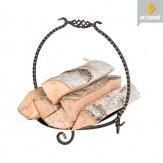 Дровница Везувий Кованая D140S серебро