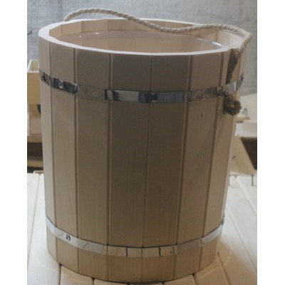 Запарник с пластиковой вставкой 15 л (Параон)