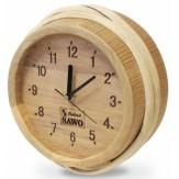 Часы для бани и сауны Sawo 530-X термообработанная древесина (устанавливаются в предбаннике)
